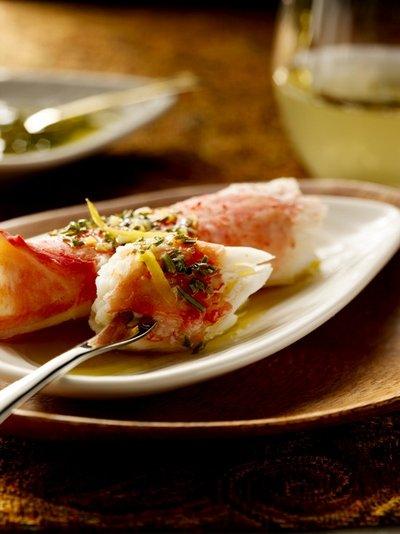 Alaska Crab with Chardonnay-Lemon-Herb Splash