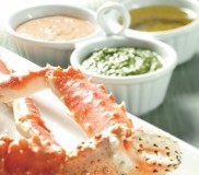 Alaska King Crab with Dipping Sauces
