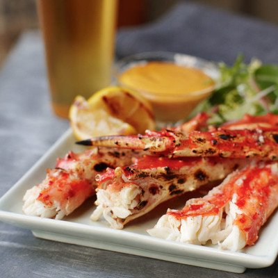 Grilled Alaska King Crab with Tabasco® Aioli