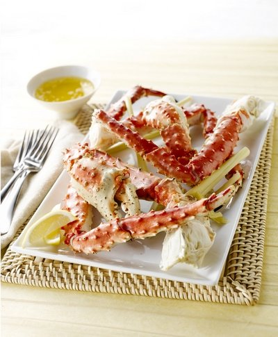 Simmered Lemongrass Alaska Crab Legs