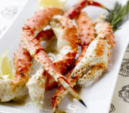 Smoky Grilled Alaska King Crab Legs