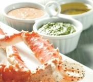 Alaska King Crab with Dipping Sauces
