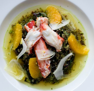 Alaska King Crab with Wilted Kale and Quinoa Salad