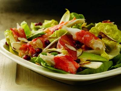 Alaska Red King Crab Salad with Avocado, Grapefruit and Citrus Ginger Vinaigrette