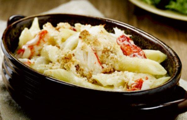 Creamy Alaska Crab Penne Pasta Bake